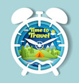time to travel poster banner design vector image vector image