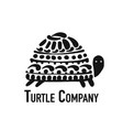 turtle logo black silhouette for your design vector image vector image
