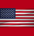 united states flag flag of united states blowig vector image
