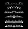 vintage ornamental dividers white typographic vector image vector image