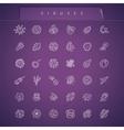 Viruses Thin Icons Set vector image