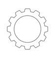 gear the black color icon vector image