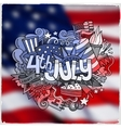 4th July Independence Day vector image