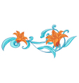 A blue and orange border vector image vector image