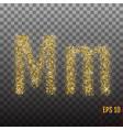 alphabet gold letter m on transparent background vector image