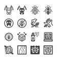 ant icon set vector image vector image