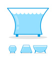 Aquarium empty on white background Clear glass jar vector image vector image