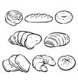 Bakery outline Eco foods Fresh bread vector image vector image