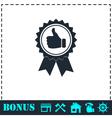 Banner ribbon Thumb up icon flat vector image vector image