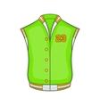Baseball jacket icon cartoon style vector image vector image