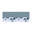 beautiful winter landscape snowfall and pine vector image vector image