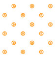 bitcoin seamless pattern flat vector image vector image