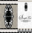 black and white damask wedding invitations vector image vector image