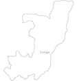 Black White Congo Outline Map vector image vector image