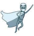 blue shading silhouette of faceless superhero boy vector image vector image
