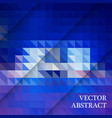 blue white polygonal mosaic background vector image vector image
