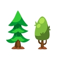 Cartoon tree isolated vector image