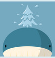 christmas tree made from big whale fountain vector image