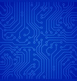 circuit board or microchip vector image vector image
