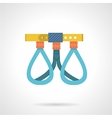 Climbing harness colored icon vector image