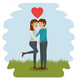 couple holding hands design vector image