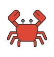 crab color icon vector image