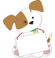 Cute puppy sign vector | Price: 1 Credit (USD $1)