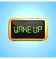 Digital alarm clock wake up vector image