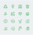 ecological icon set vector image