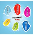 feedback icons vector image vector image