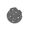 finger print flat scan circle fingerprint icon vector image vector image