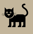 Flat Black Cat vector image