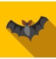 Flight of a bat icon flat style vector image vector image