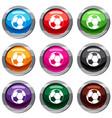 football ball set 9 collection vector image vector image
