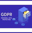 gdprpersonal data protection and privacy concept vector image vector image