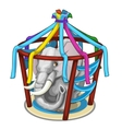 Gray elephant in circus or zoo cage vector image vector image