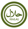 Halal Green Label vector image vector image
