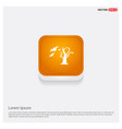 halloween tree icon orange abstract web button vector image