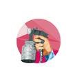 Hand Spray Paint Gun Spraying Low Polygon vector image