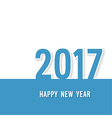 Happy new year 2017 paper postcard vector image