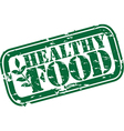 Healthy food grunge stamp vector image