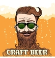 Hipster Craft Beer Theme vector image vector image