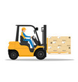 industrial forklift design with a driving o vector image vector image