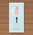 january hand drawn fashion models calendar 2016 vector image vector image