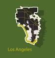 Los angeles map flat style design - sticker