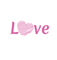 LOVE Happy Valentines day font type vector image vector image