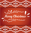 Merry Christmas lettering on a knit sweater vector image vector image
