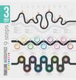 navigation 9 steps timeline infographic concepts vector image vector image