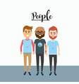 nice men friends with clothes design vector image