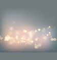 night city gray sky with lens flare and bokeh vector image